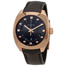 Gucci GG2570 Black Dial Mens Swiss Quartz Watch YA142309