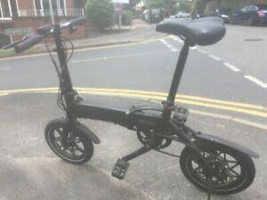 Electric Bike Black Foldable FAULTY 3 Gears 250W