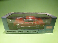 SUN STAR 1:18 MERCEDES BENZ  220 SE - 1958 - RARE SELTEN - GOOD COND IN BOX 3563