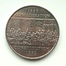 1982 CANADA one 🍁 Canadian 1 DOLLAR constitution FATHERS OF CONFEDERATION 1867