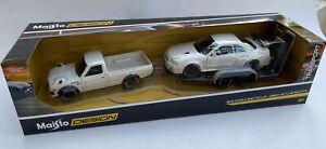 Skyline R34 DATSUN 620 PICKUP & trailer Nissan GT-R BNR34 1:24th MAISTO 32754W