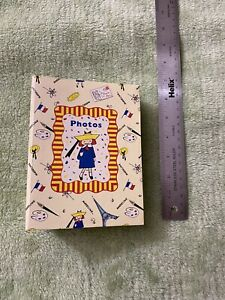 C.R.Gibson Photo Album Book Madeline Holds 120 Pictures Paris Eiffel Tower