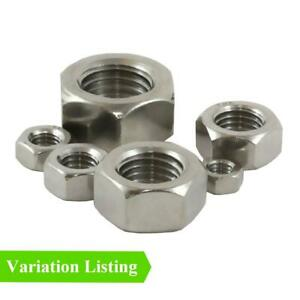 Imperial Hexagon Headed Steel Nuts, UNF, BZP Grade for Set Screw Bolts