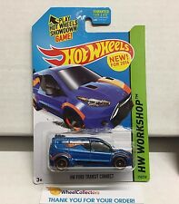 HW Ford Transit Connect #210 * BLUE * 2014 Hot Wheels * NB19