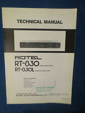 ROTEL RT-830 L TUNER TECHNICAL SERVICE MANUAL FACTORY ORIGINAL