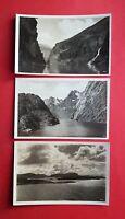 3 x Foto AK NORGE Norwegen um 1935 Sognefjord, Fjordpartie, skjärgaarden ( 39248