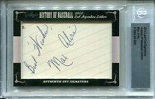 Max Alvis Auto 2012 Leaf History of Baseball Cut Signature Autograph INDIANS
