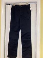 Nwt Gap Kids Boys Black Uniform Extended Pants Sz 16 Slim