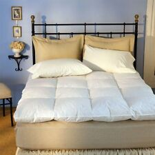 """Queen Mattress Topper Down Top Feather Bed Hypoallergenic 4"""" inch Pad Featherbed"""