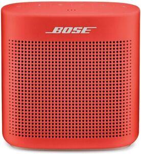 Bose SoundLink Color Bluetooth Speaker II - Coral Red - Brand New