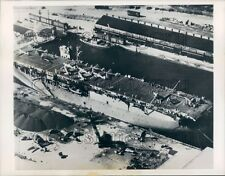 1946 French Navy Ship Dixmude HMS Biter Port Everglades Aerial Press Photo