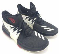 Adidas D.O.N. Bounce 6.5 Boys Basketball Shoes Black White 3 Stripe