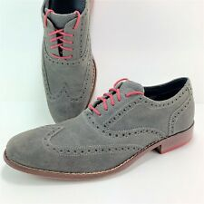 Cole Haan Air Colton Men's Size 8 M Green Leather Wingtip Oxfords C09579