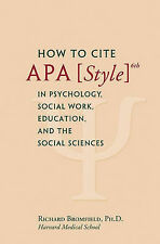 How to Cite APA Style 6th in Psychology, Social Work, Education, and the Social