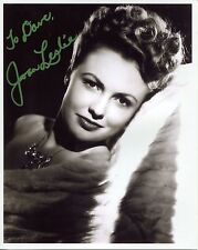 JOAN LESLIE HAND SIGNED 8x10 PHOTO+COA       STUNNING ACTRESS       TO DAVE