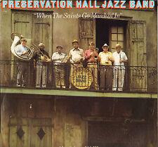 "PRESERVATION HALL JAZZ BAND ""WHEN THE SAINTS"" LP 1983 CBS 38650"