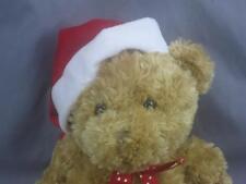 BIG NEW HALLMARK VERY SOFT CHRISTMAS TEDDY BEAR POTBELLY SANTA HAT PLUSH STUFFED