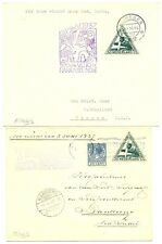 NED 1937 SFC (2 x )  TO   DUTCH INDIES   F/VF