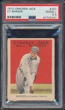 PSA 2.5  1915  Cracker Jack     Cy Barger  # 141    Just Graded