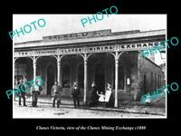 OLD LARGE HISTORIC PHOTO OF CLUNES VICTORIA THE CLUNES MINING EXCHANGE c1880