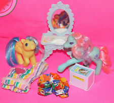 Lot MY LITTLE PONY Baby Bouncy G1 Ivy G2 Accessories Paradise Estate Vanity Wear