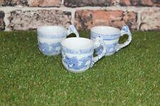 Vintage Blue Dragon Set 3 Coffee Cups