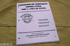 67 68 Chevy Comfortron AC Air Impala Manual Guide RARE freon R12