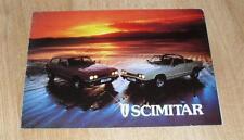 Reliant Scimitar GTC & GTE Brochure 1978
