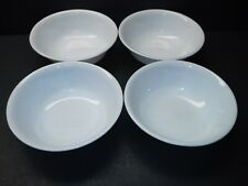 """CORELLE """"WINTER WHITE""""  4 Cereal or soup bowls 6.25"""""""