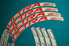 CAMPAGNOLO BORA ULTRA 50 2015 WHITE & ORANGE 3D RIM DECAL SET FOR 2 RIMS
