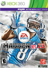 Madden NFL 13 For Xbox 360 Football Very Good 1E