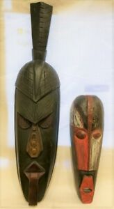 Pair of Wooden Indonesian Tribal Masks