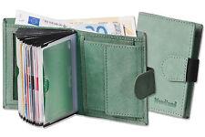 Woodland compact porte-monnaie avec 18 kreditkartentaschen en cuir en menthe
