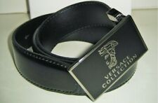 091db716997 Neuf Versace Collection Hommes Cuir Verni Noir 32