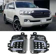 Black Smoked LED Car Rear Fog Light Lamp For Toyota Land Cruiser LC200 16-18