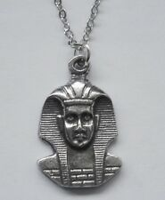 Tut (22mm x 14mm) Egyptian Chain Necklace #2327 Pewter Small King