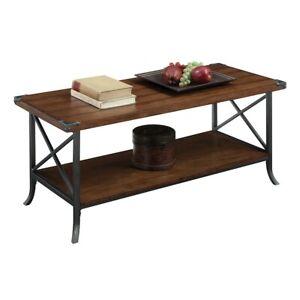 Convenience Concepts Brookline Coffee Table, Dark Walnut - 111882DWN