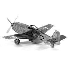 Fascinations Metal Earth 3D Laser Cut Steel Model Kit P51 P-51 MUSTANG Plane