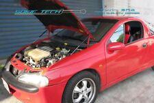 94-00 Opel Tigra Coupe Euro Black Strut Gas Lift Hood Shock Stainless Damper Kit
