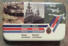 Canadian Armed Forces Armees Canadiennes Pinback 1980s Regular and Reserve