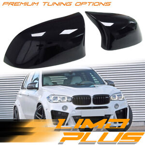Gloss Black Rearview Mirror Cover Caps for BMW X3 F25 LCI X4 F26 X5 X6 F15 F16
