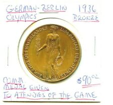 1936 Bronze Berlin Olympic Attendees of the Games  - Comm. Olympic Medal