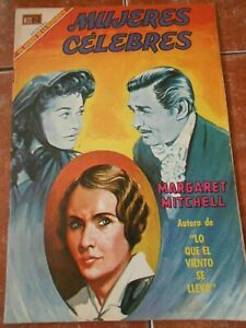 MUJERES comic MARGARET MITCHELL BIOGRAPHY vintage GONE WITH THE WIND SCARLETT
