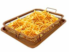 Gotham Steel Copper Crisper Tray XL - AIR FRY IN YOUR OVEN -As Seen on TV - NEW!