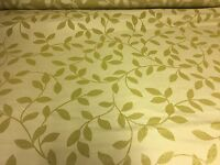SUPER LUXURIOUS 2TONE LIGHT GOLD DAMASK CURTAIN UPHOLSTERY FABRIC 4.4 METRES
