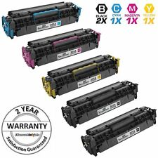 5PK Reman Toner Cartridge for HP 305A LaserJet Pro 400 Color M451dn Black
