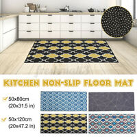 Home Kitchen Non-Slip Door Mat Machine Washable Runner Floor Rug Carpet 4