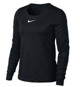 NEW Nike Women's Pro Long-Sleeve Top - Black, Large