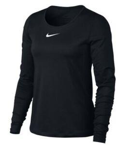 NEW Nike Women's Pro Long-Sleeve Top - Black, Large