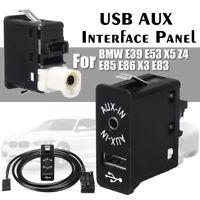 12 Pin AUX USB Interface Panel per BMW Mini Cooper E39 E53 X5 Z4 E85 E86 X3 E83